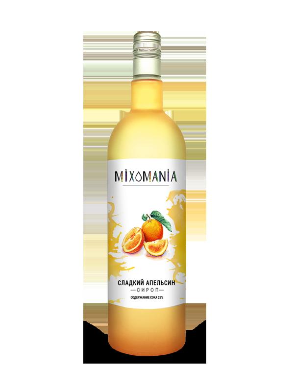 Апельсиновый сироп купить. В составе сок и пюре 20,6%