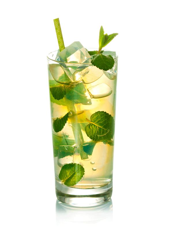 Рецепт безалкогольного коктейля —  зеленый чай с жасмином