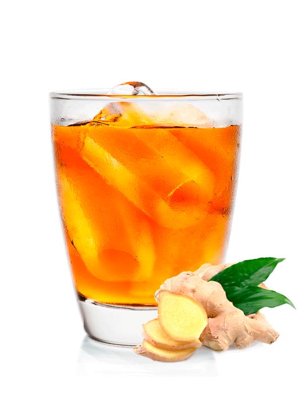 Рецепт прохладительного напитка черного чая с имбирем