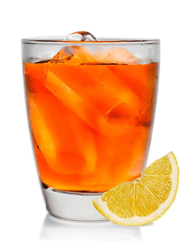 Безалкогольный коктейль с чаем и лимоном