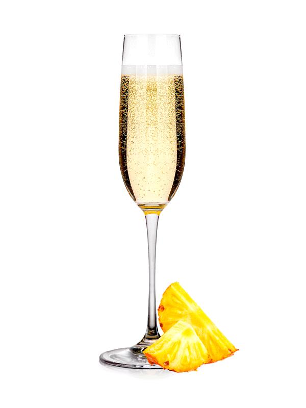 Ананасы в шампанском — коктейль алкогольный
