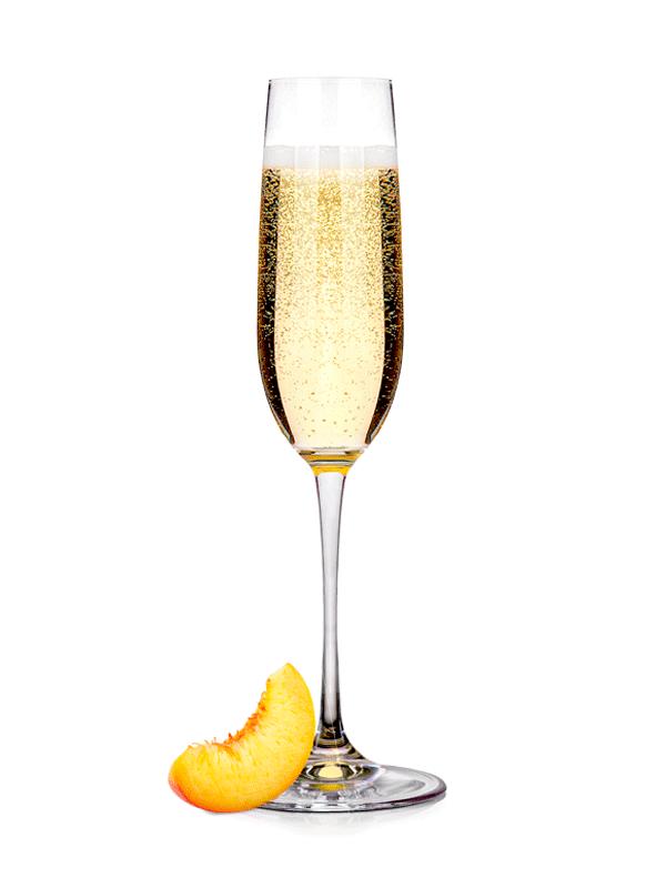Рецепт шампанского с персиком