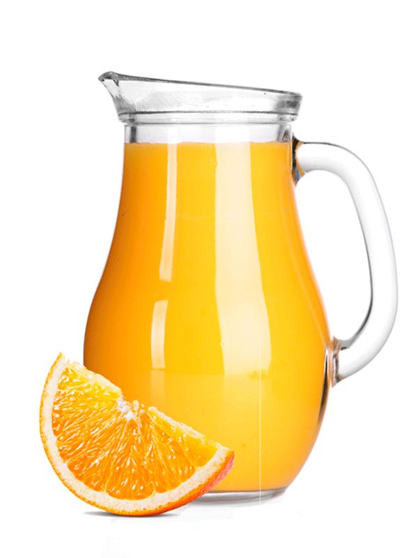 Коктейль безалкогольный из апельсинового сиропа