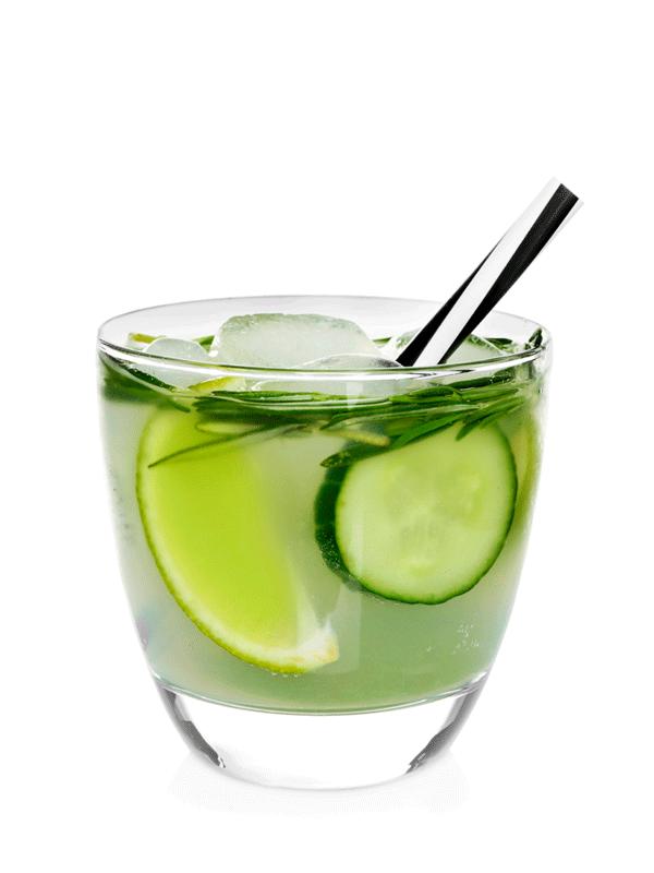 Огуречный безалкогольный коктейль, напиток из сиропа