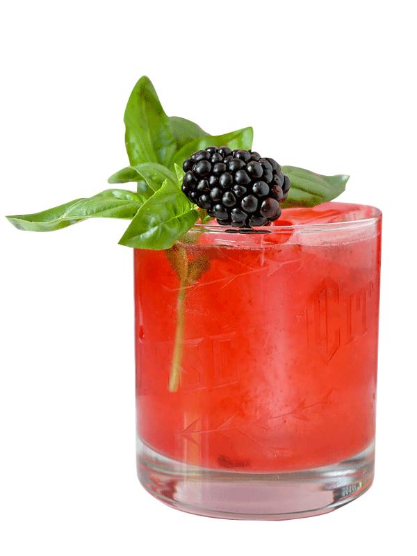 Алкогольный коктейль с сиропом «Ежевика»